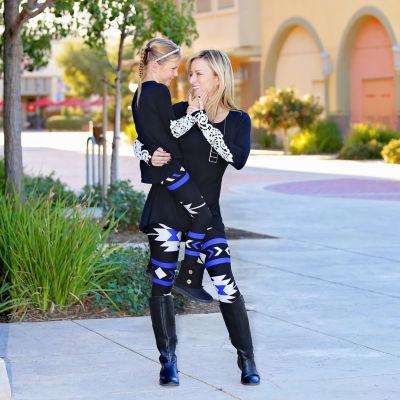 Mayah Kay Fashion Girls Geometric Leggings