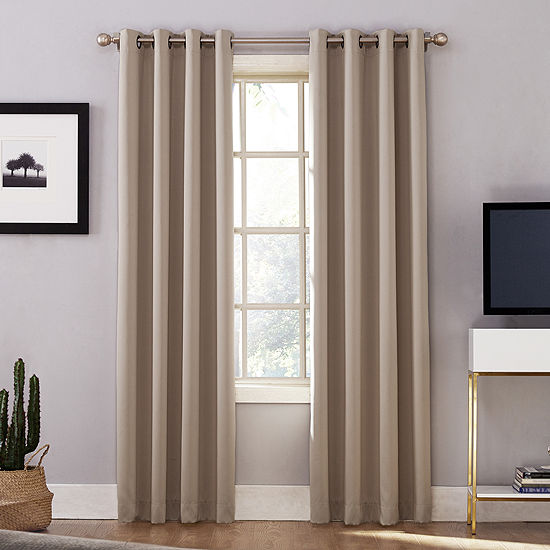 Sun Zero Oslo Extreme Blackout Grommet-Top Curtain Panel