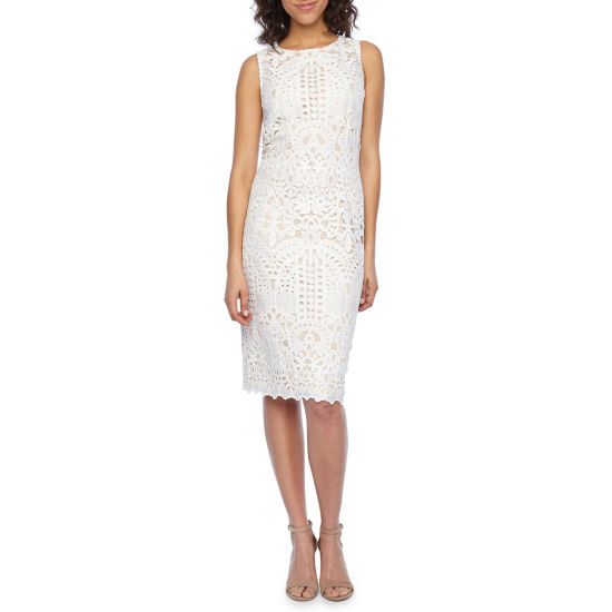 Liz Claiborne Sleeveless Lace Sheath Dress
