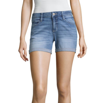 "Arizona 4 1/2"" Roll Cuff Midi Shorts-Juniors"