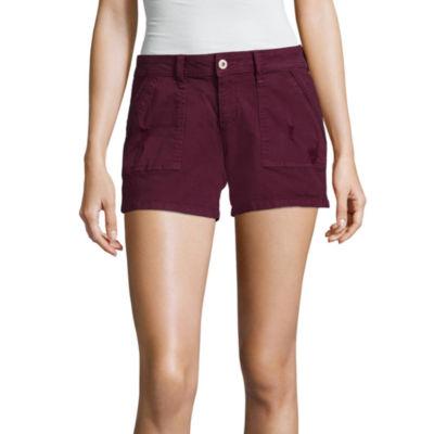 "Arizona 4 1/2"" Utility Midi Shorts-Juniors"