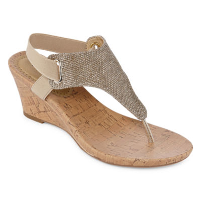 St. John's Bay Ante Womens Wedge Sandals