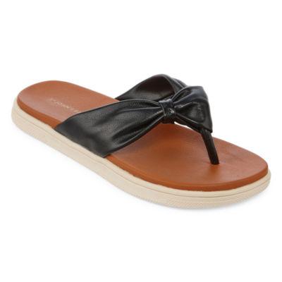 St. John's Bay Womens Berry Flip-Flops