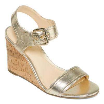 Liz Claiborne Womens Wilma Wedge Sandals