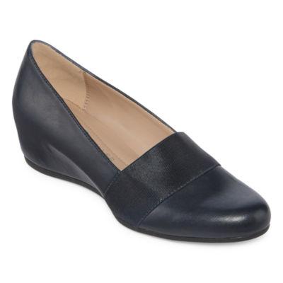 Andrew Geller Womens Secretary Slip-On Shoe Pointed Toe