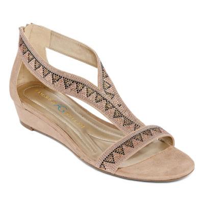 Andrew Geller Womens Irene Wedge Sandals