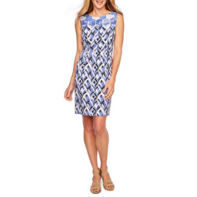Alyx Sleeveless Geo Linear Sheath Dress