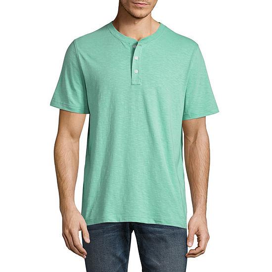 St. John's Bay Mens Short Sleeve Henley Shirt