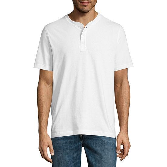 St John S Bay Mens Short Sleeve Henley Shirt
