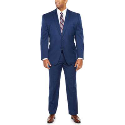 Collection by Michael Strahan Blue Texture Suit Big and Tall