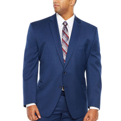 Collection by Michael Strahan Blue Texture Classic Fit Suit Jacket - Big and Tall