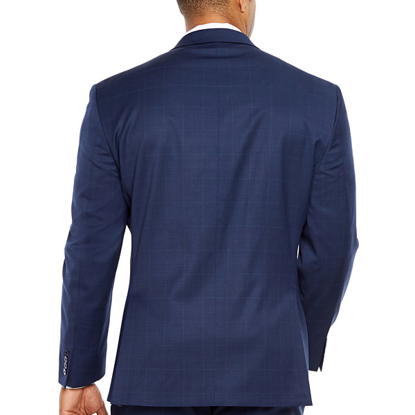 Collection by Michael Strahan  Plaid Classic Fit Suit Jacket-Big and Tall