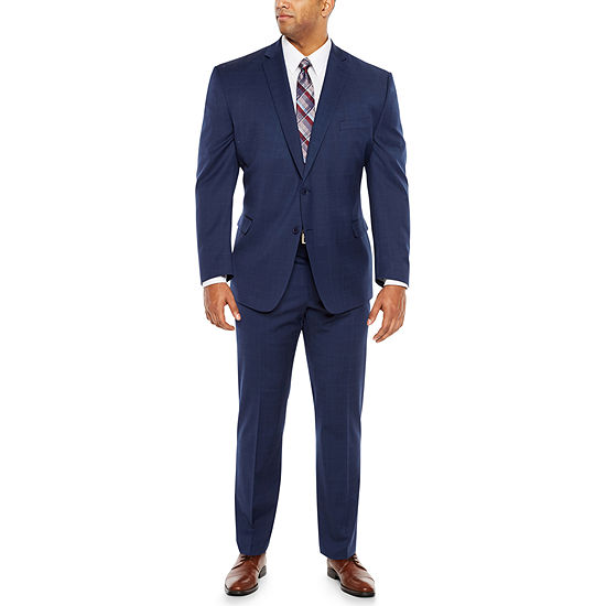 Collection by Michael Strahan Blue Plaid Suit - Big and Tall