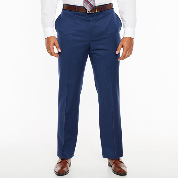 Collection by Michael Strahan Blue Texture Classic Fit Suit Pants - Big and Tall