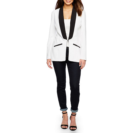 Bold Elements Long Sleeve Sexy Stretch Tuxedo Blazer