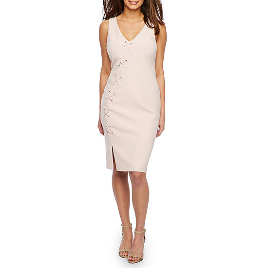 29e3910691a56 Bold Elements Sleeveless Sexy Stretch Lace Up Bodycon Dress - JCPenney