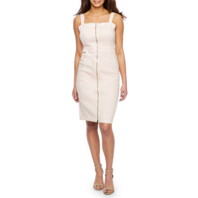 Bold Elements Sleeveless Zip Front Denim Dress