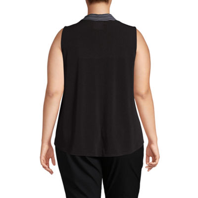 Worthington Pleated Front Tank Top - Plus