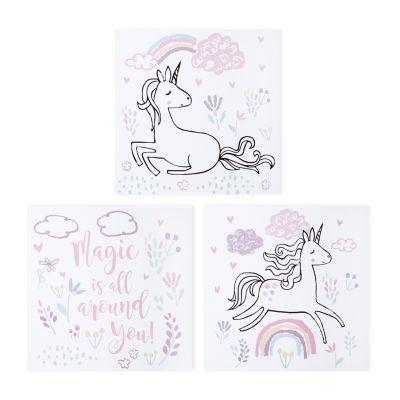 Trend Lab Magical Unicorn Canvas Wall Art 3-pc.