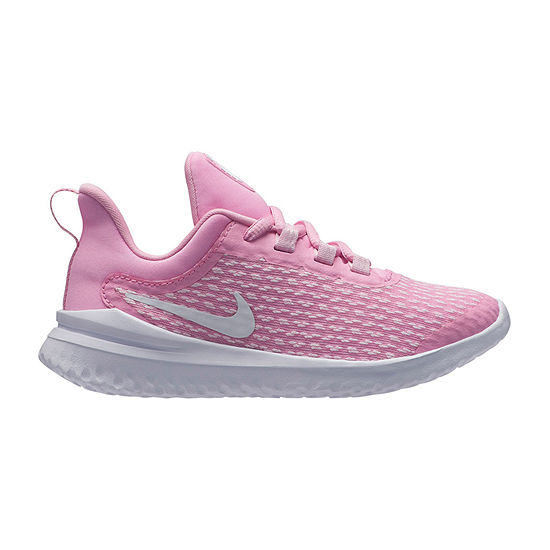 Nike Rival Little Kids Girls Lace-up Running Shoes