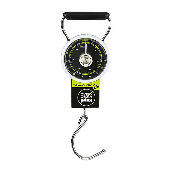 Travelon Stop and Lock Luggage Scale with Tape Measure