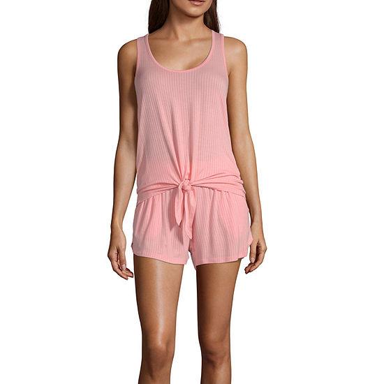 Ambrielle Womens Sleeveless 2-pc. Shorts Pajama Set