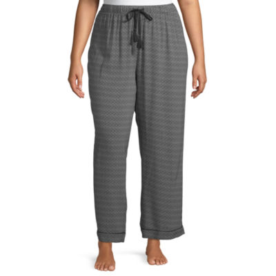 Ambrielle Womens-Plus Poplin Pajama Pants