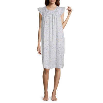 Adonna Womens Nightgown Ruffle Sleeve