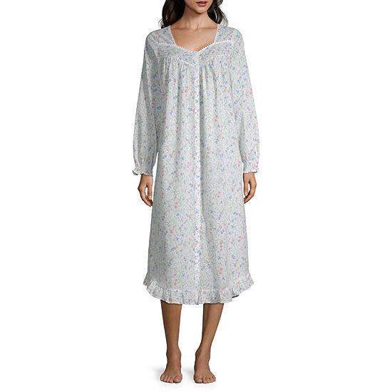 Adonna Womens Robe Long Sleeve Mid Length