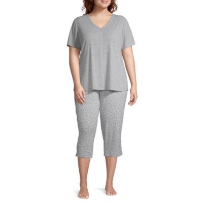 Liz Claiborne® Women's Plus Size Capri Pajama Set