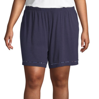 Liz Claiborne® Plus Size Essential Knit Shorts