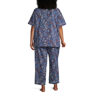 Liz Claiborne® Plus Size Notch Collar Pajama Set