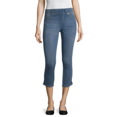 Mixit Side Stripe Denim Capri Womens Legging
