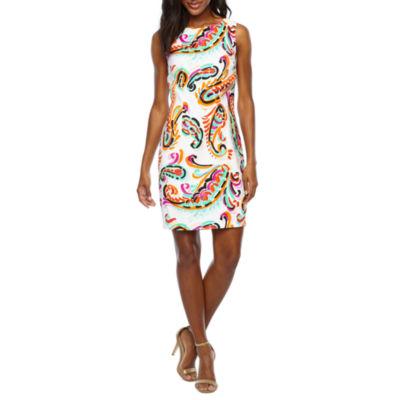 Alyx Sleeveless Paisley Sheath Dress