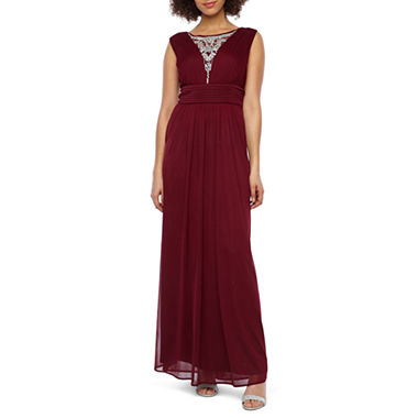 Scarlett Women's Sleeveless Beaded Evening Gown