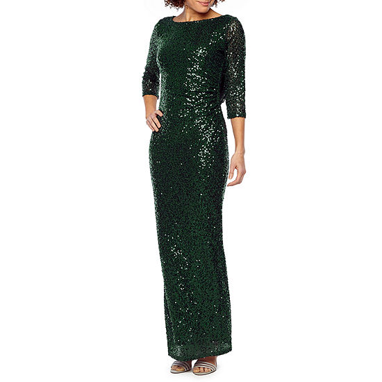 5d7bbb9e1d Blu Sage 3 4 Sleeve Sequin Evening Gown - JCPenney