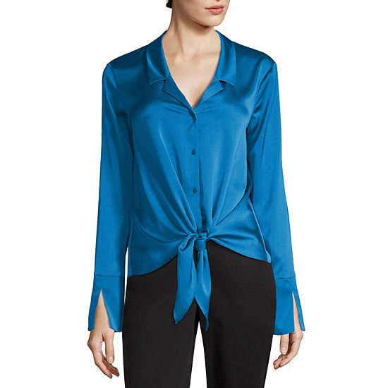 Worthington Tie Front Top - Tall