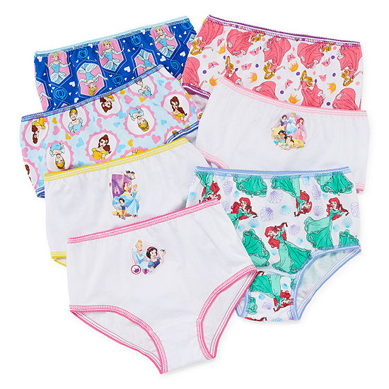 Disney Girls 7 Pair Disney Princess Brief Panty Toddler