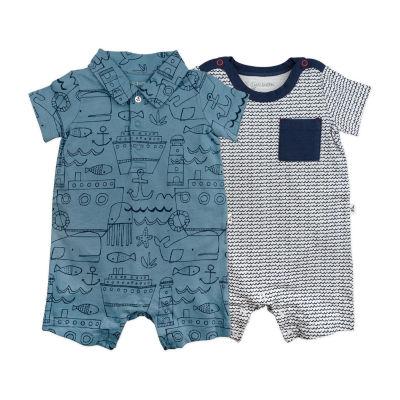 Mac And Moon 2 Pack Short Sleeve Romper - Baby Boys