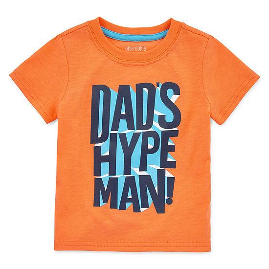 Okie Dokie Baby Boys Round Neck Short Sleeve Graphic T-Shirt