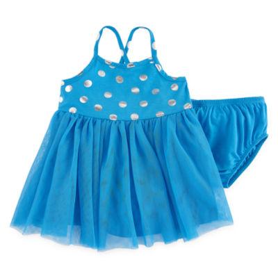 Okie Dokie Sleeveless Tutu Dress - Baby Girls