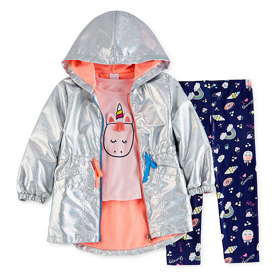 Okie Dokie 3-pc. Legging Set-Toddler Girls