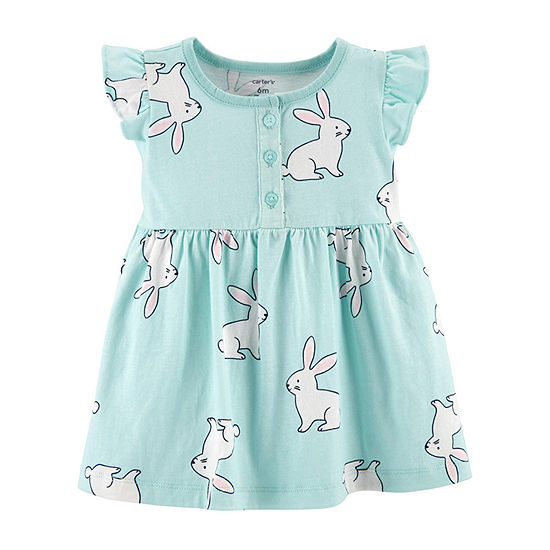 Carter's Girls Short Sleeve A-Line Dress - Baby
