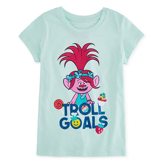 Trolls Girls Round Neck Short Sleeve Graphic T-Shirt Preschool / Big Kid