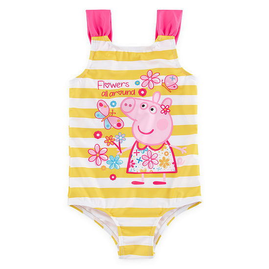 f8382b2886 Entertainment One Uk Peppa Pig Striped One Piece Swimsuit Toddler Girls -  JCPenney