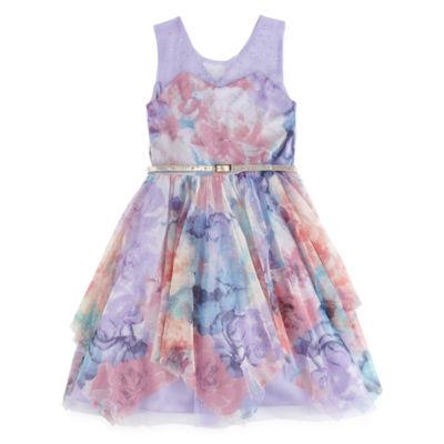 Knit Works Embellished Sleeveless Party Dress - Big Kid Girls
