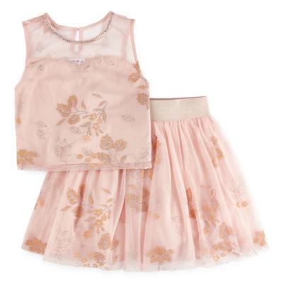 Love Jayne Beaded Sleeveless Dress Set - Big Kid Girls
