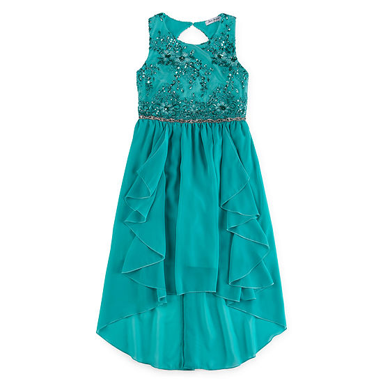 Love Jayne Embellished Sleeveless Party Dress - Preschool / Big Kid Girls