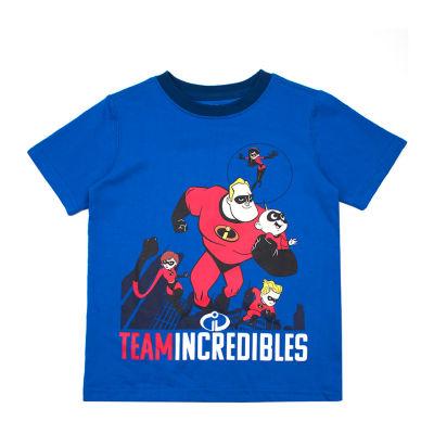 Disney Boys Crew Neck Short Sleeve The Incredibles T-Shirt-Toddler