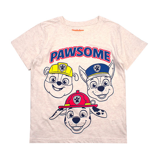 Boys Crew Neck Short Sleeve Paw Patrol Graphic T Shirt Toddler